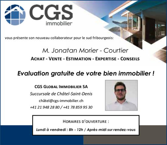 CGS Global immobilier SA, Châtel-Saint-Denis, Evaluation gratuite de votre bien immobilier !