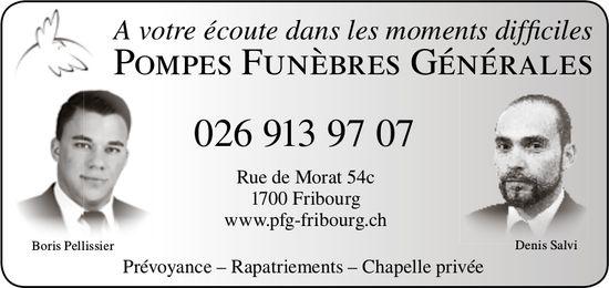 POMPES FUNÈBRES GÉNÉRALES, Fribourg, A votre écoute dans les moments difficiles