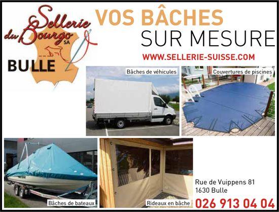 Sellerie du Bourg SA, Bulle, Vos bâches sur mesure