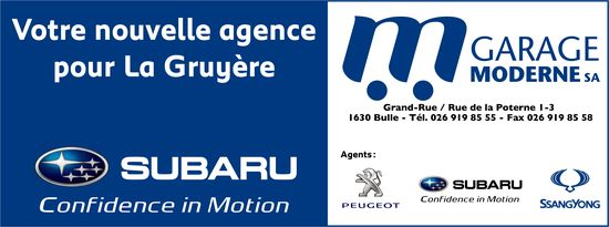 M GARAGE MODERNE SA, Bulle, Votre nouvelle agence pour La Gruyère