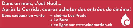 Cinemotion - Dans un mois, c'est Noël... Après la Corrida, courez acheter des entrées de cinéma!