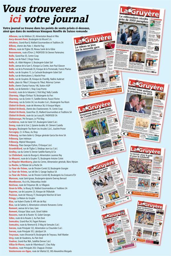 La Gruyère - Vous trouverez ici votre journal