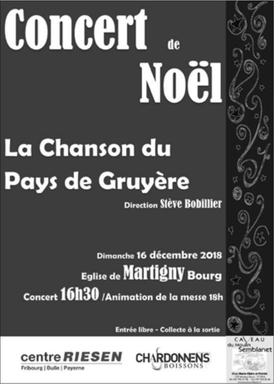 Concert de Noël, 16 décembre, Église de Martigny