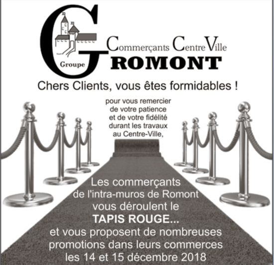 Commerçant Centre Ville Romont -Promotions dans leurs commerces du 14 et 15 décembre
