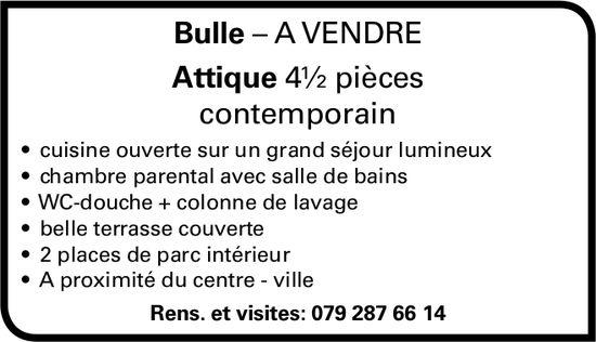 Attique 4½ pièces contemporain, Bulle, à vendre