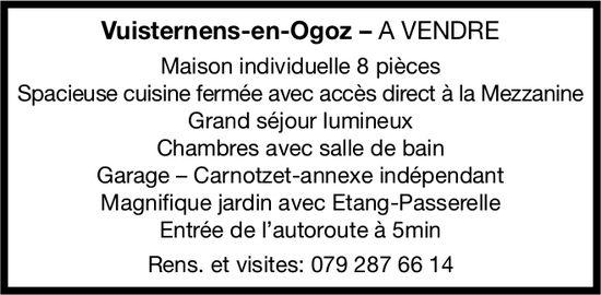 Maison individuelle 8 pièces, Vuisternens-en-Ogoz, à vendre