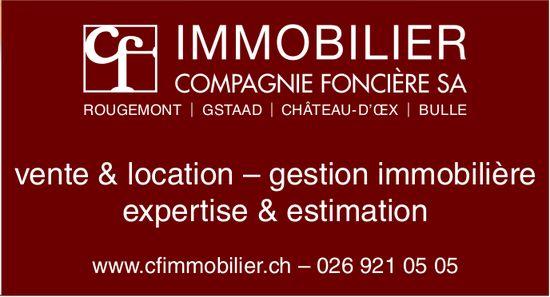 IMMOBILIER COMPAGNIE FONCIÈRE SA, VENTE & LOCATION - GESTION IMMOBILIÈRE