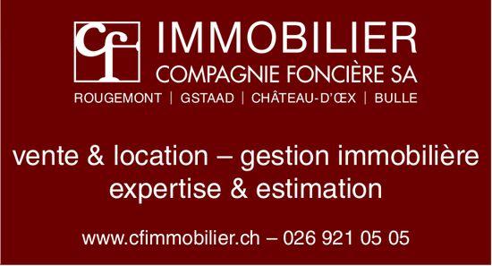 IMMOBILIER COMPAGNIE FONCIÈRE SA - vente & location, gestion immobilière expertise & estimation