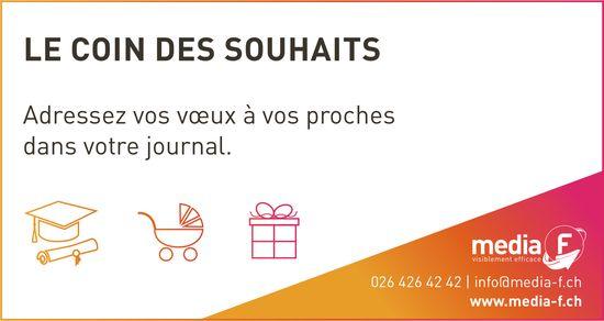 Media F - Le coin des souhaits Adressez vos vœux à vos proches dans votre journal.