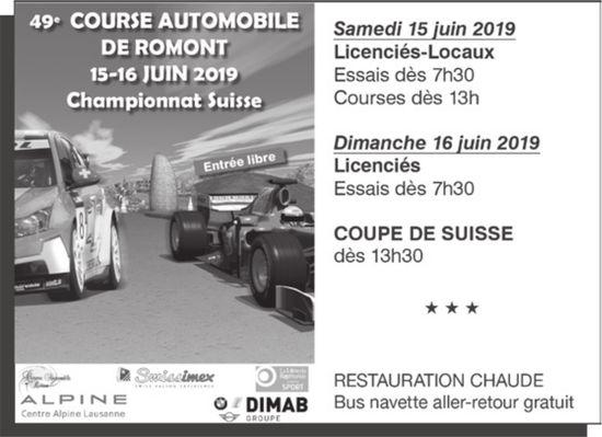 49° COURSE AUTOMOBILE DE ROMONT, 15-16 IUIN,