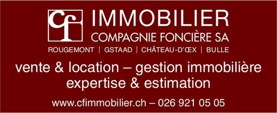 IMMOBILIER COMPAGNIE FONCIÈRE SA, Bulle, Vente & location