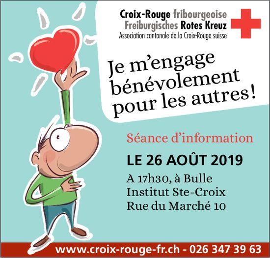 Croix-Rouge fribourgeoise, Bulle, séance d'information le 26 août