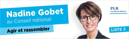 LISTE 3 - Nadine Gobet au Conseil national Agir et rassembler