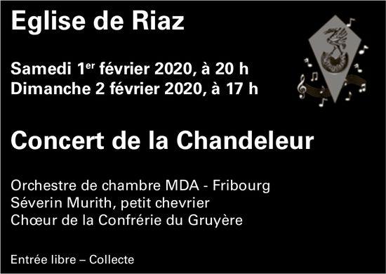 Concert de la Chandeleur, 1-2 février, Eglise, Riaz