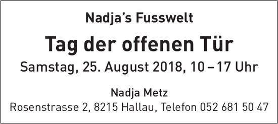 Nadja's Fusswelt - Tag der offenen Tür Samstag, 25. August