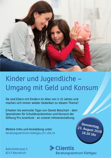 Kinder und Jugendliche – Umgang mit Geld und Konsum Donnerstag 23. August