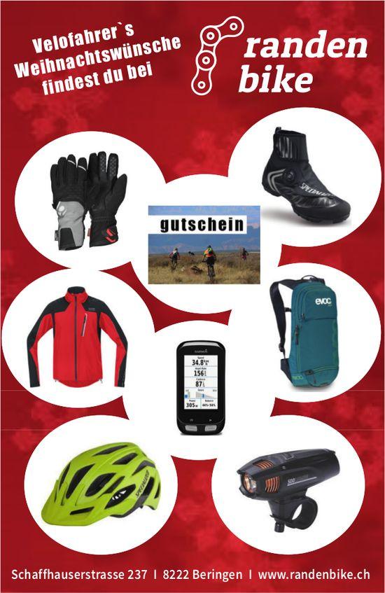 Randen Bike, Beringen - Velofahrer's Weihnachtswünsche