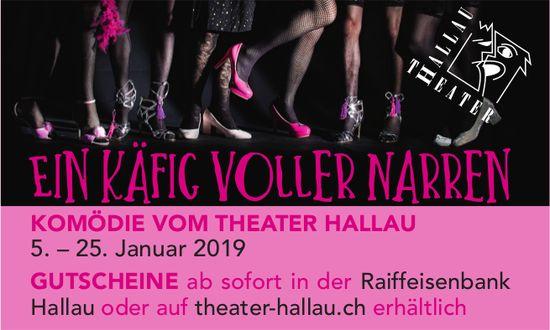 KOMÖDIE, EIN KÄFIG VOLLER NARREN, 5. - 25. Januar 2019, Theater Hallau