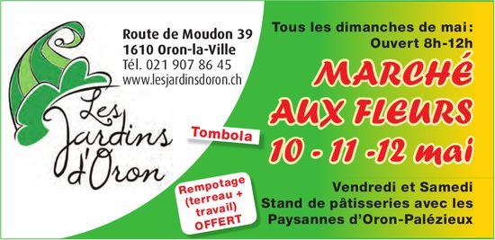 MARCHÉ AUX FLEURS 10 - 11 -12 mai, Oron-la-Ville