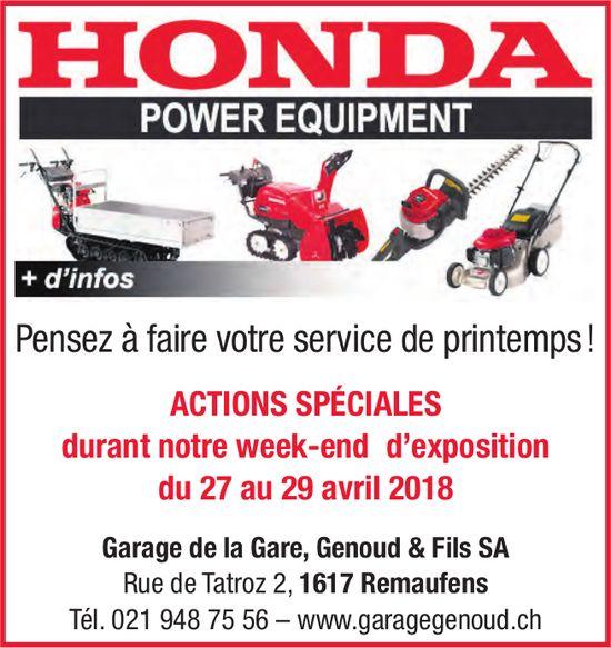 Garage de la Gare, Genoud & Fils SA, Remaufens - ACTIONS SPÉCIALES