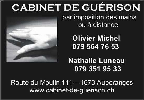 CABINET DE GUÉRISON, Auboranges, par imposition des mains ou à distance