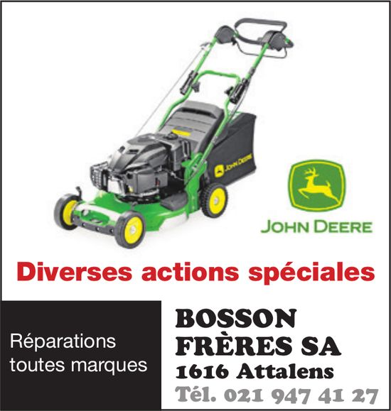 BOSSON FRÈRES SA, Attalens, Diverses action spéciales