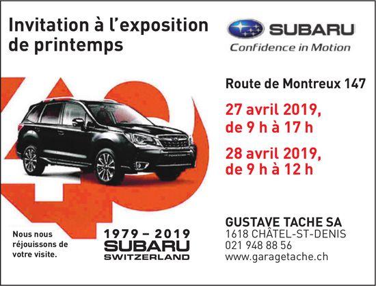 GUSTAVE TACHE SA, CHÂTEL-ST-DENIS, Invitation à l'exposition de printemps