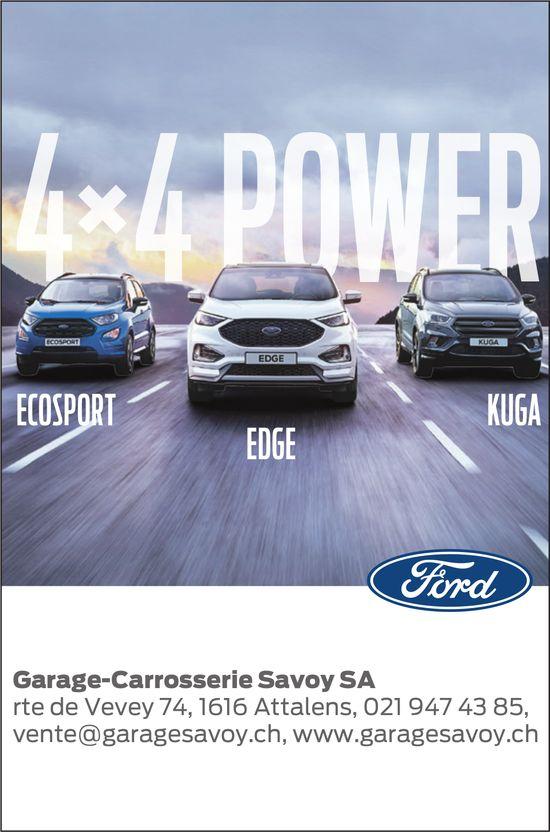 Garage-Carrosserie Savoy SA, Attalens, 4 x 4 power