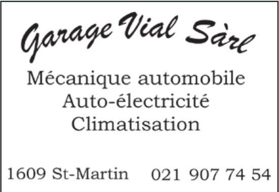 Garage Vial Sàrl, St-Martin, mécanique automobile auto-électricité