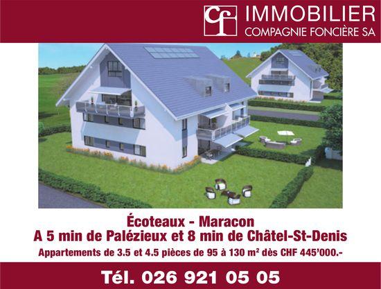 IMMOBILIER COMPAGNIE FONCIÈRE SA, Châtel-St-Denis, dès CHF 445'000.-