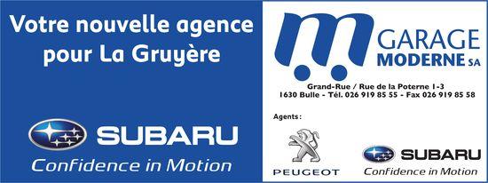 GARAGE MODERNE SA, Bulle, Votre nouvelle agence pour La Gruyère