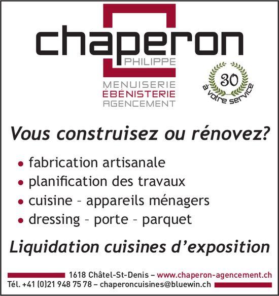 Chaperon menuiserie, Châtel-St-Denis, Liquidation cuisines d'exposition