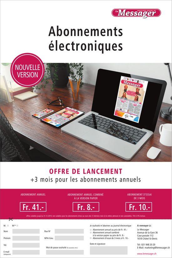 Le Messager - Abonnements électroniques nouvelle version