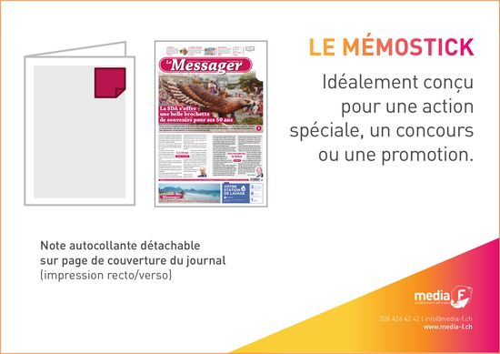 Media F - Le Mémostick Idéalement conçu pour une action spéciale, un concours ou une promotion.