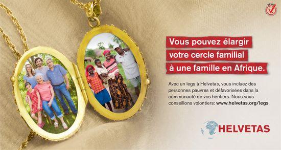 HELVETAS - Vous pouvez élargir votre cercle familial à une famille en Afrique.