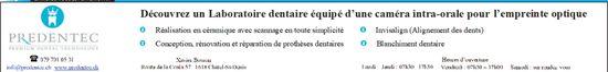 PREDENTEC, Châtel-St-Denis, Découvrez un Laboratoire dentaire équipé d'une caméra intra-orale