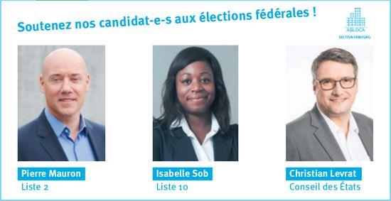 Soutenez nos candidats-e-s aux élections fédérales!