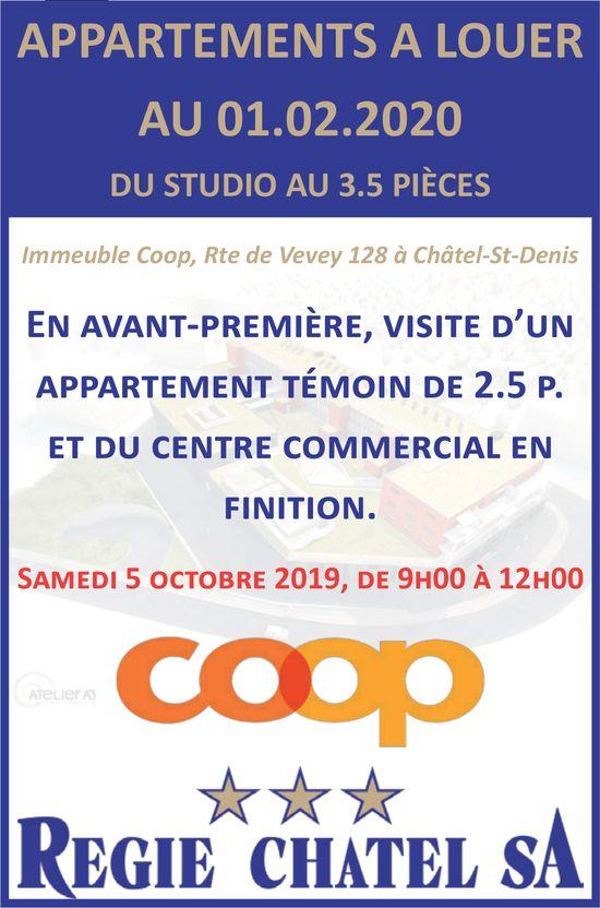 Appartements, Immeuble Coop, Châtel-St-Denis, à louer