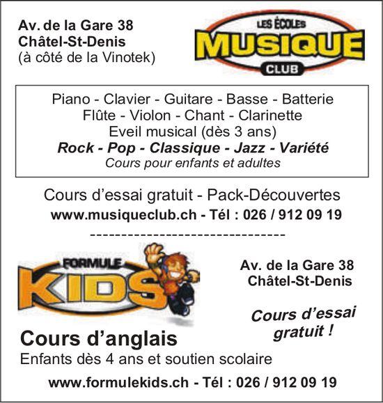 Les écoles musique club, Châtel-St-Denis, Cours d'essai gratuit