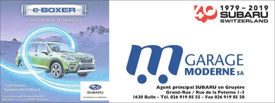 GARAGE MODERNE SA, Grand-Rue, e-Boxer Subaru hybrid technology