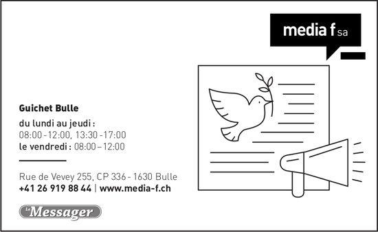 Media f SA - Le Messager
