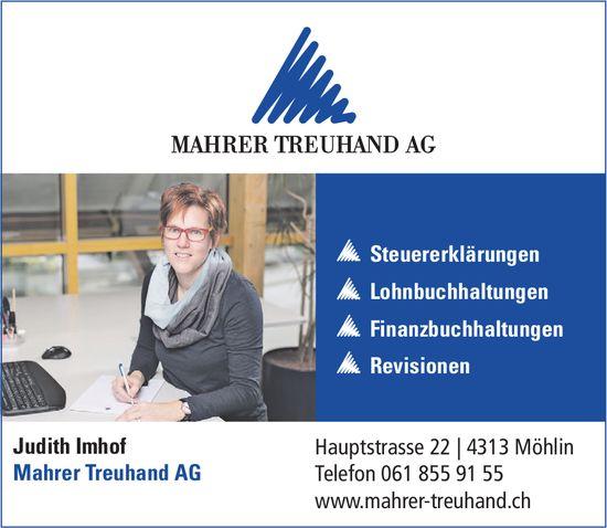 MAHRER TREUHAND AG - Steuererklärungen, Lohnbuchhaltungen, Finanzbuchhaltungen, Revisionen