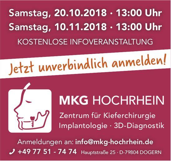 MKG HOCHRHEIN Zentrum für Kieferchirurgie - Kostenlose Infoveranstaltung am 20.10. + 10.11.