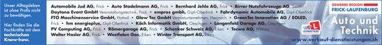 Auto und Technik - GEWERBE REGION FRICK-LAUFENBURG