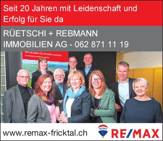 RÜETSCHI + REBMANN IMMOBILIEN AG - Seit 20 Jahren mit Leidenschaft und Erfolg für Sie da