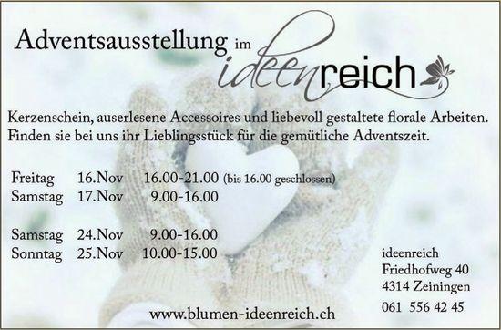 """Adventsausstellung im """"Ideenreich"""", 16./17. und 24./25. November"""