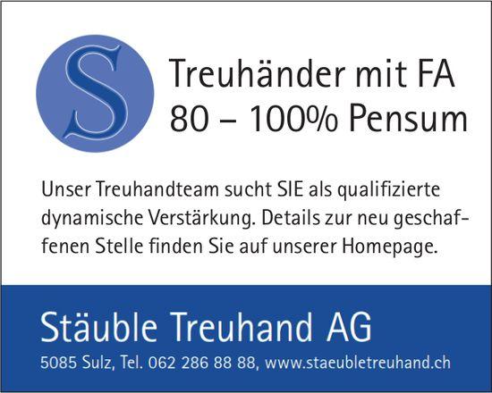 Treuhänder mit FA bei Stäuble Treuhand AG gesucht