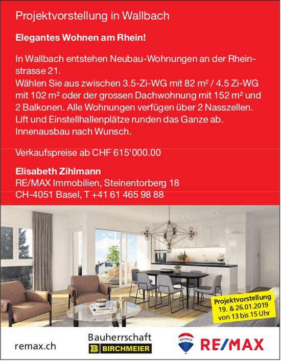 Neubau-3.5-/4.5-Zi.-Wohnungen in Wallbach zu verkaufen - Projektvorstellung 19. + 26. Januar