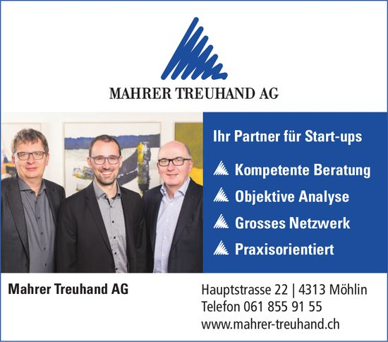 Mahrer Treuhand AG - Ihr Partner für Start-ups