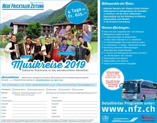 NFZ - Musikreise 2019 in das wunderschöne Montafon!
